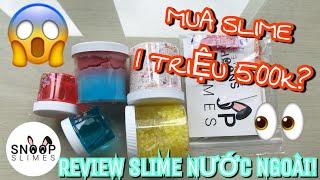 MUA SLIME KHỦNG TRỊ GIÁ 1TR500k?! Review slime mua từ Snoopslimes | piggyslime18