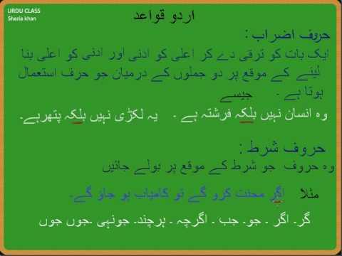 Adv. Urdu Grammar Harf Ki Iqsaam Part 11