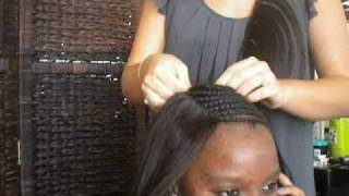 Sewing A Full Head Celebrity Weave,Braid Pattern, Closure