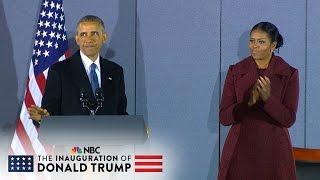 Former President Barack Obama's Final Speech Before Departing Joint Base Andrews (Full) | NBC News