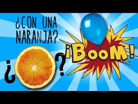 Cómo explotar un globo con una naranja (Experimentos Caseros)