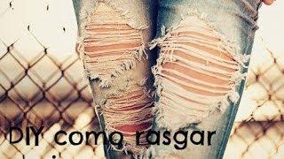Como rasgar un jean