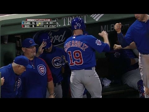 CHC@BOS: Coghlan lines an RBI double to right