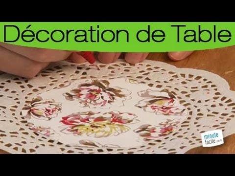 Customiser des napperons en papier pour votre table