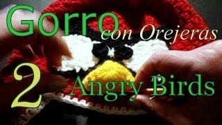 Como Tejer Gorro Angry Birds 2° Parte (crochet Earflap