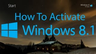 How To Activate Windows 8.1 Pro. (Build 9600)