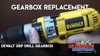 How to replace a gearbox in a Dewalt XRP drill