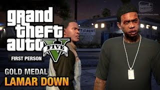 GTA 5 Mission #70 Lamar Down [First Person Gold Medal
