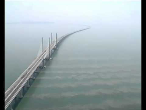 Nice top view of Penang Second Bridge