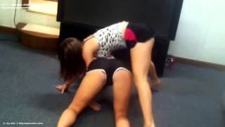 Two Young Teens Twerking Dancing