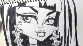 Cómo Dibujar A Cleo De Nile De Monster High Dibujos Para