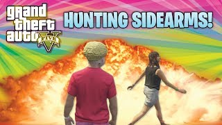 GTA 5 Funny Moments Hunting Sidearms & Helicopter Attack! (GTA Online Funny Moments With The Crew)
