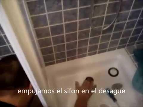 Como cambiar el sifon roto del plato de ducha youtube for Como colocar un plato de ducha