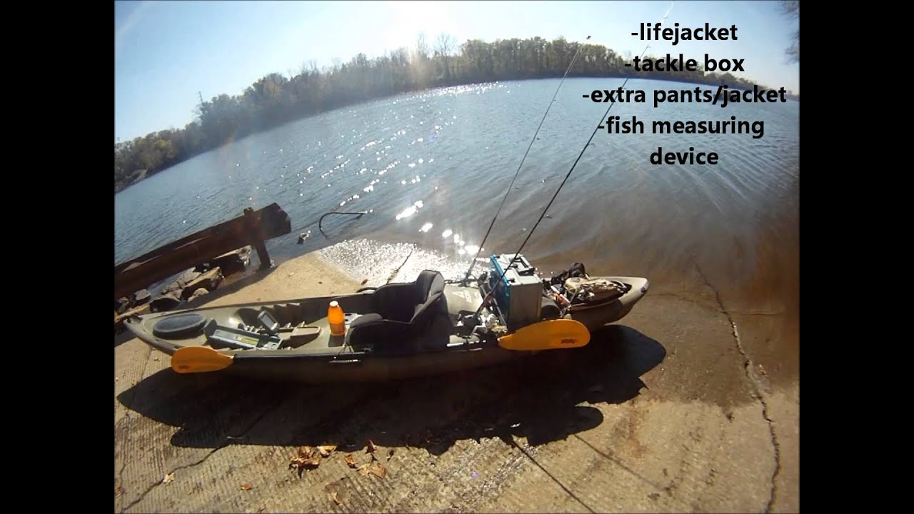 Ascend fs12t kayak my fishing setup youtube for Fishing canoe setup