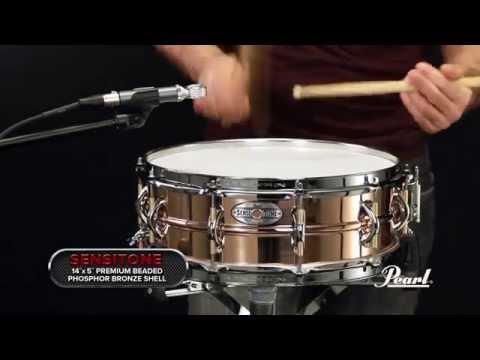 Pearl Sensitone Elite Phospher Bronze 14x5 Snare Drum