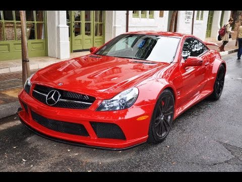Red Mercedes Sl65 Amg Black Series Youtube