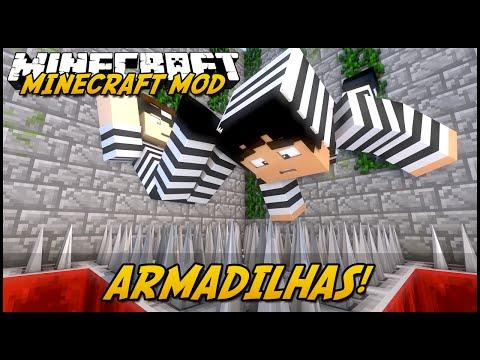 Minecraft Mod: ARMADILHAS MORTAIS! (Espinhos e Blocos Falsos // Torch Levers)