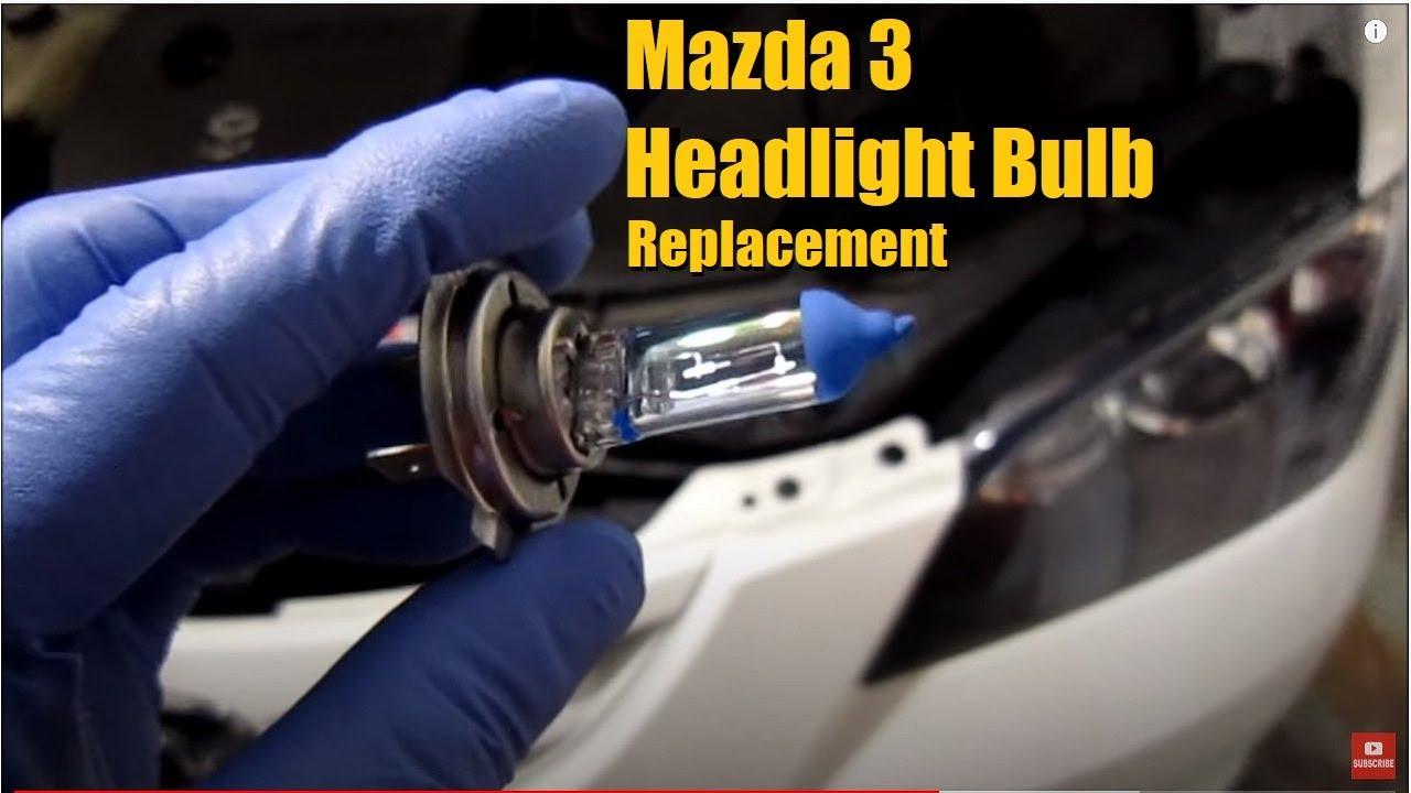 How To Change A Mazda 3 Headlight Bulb Youtube
