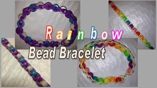 Rainbow Bead And Loom Band Bracelet Make Without The