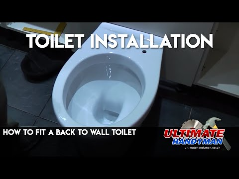 How to fit a back to wall toilet