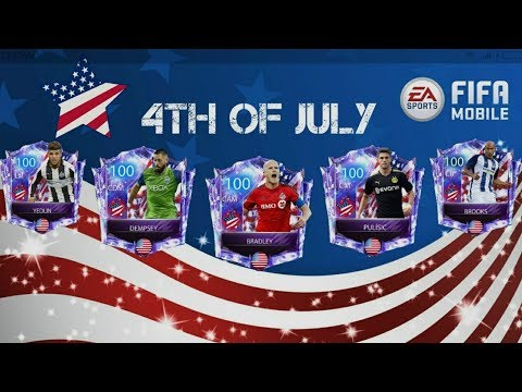 4TH OF JULY IN FIFA MOBILE 18 !! ALL PLAYERS AND PACK OPENING CONCEPT DESIGN !!