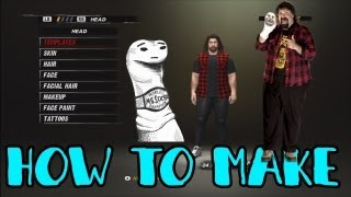 WWE ´12 How To Make Mick Foley Tutorial W/ Voice