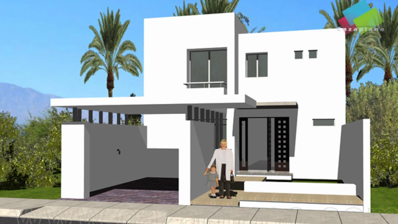Planos de casas con fachadas youtube for Fachadas de casas mexicanas