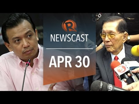 Rappler Newscast: Trillanes on Enrile, Drilon on EDCA, Sewol captain warning
