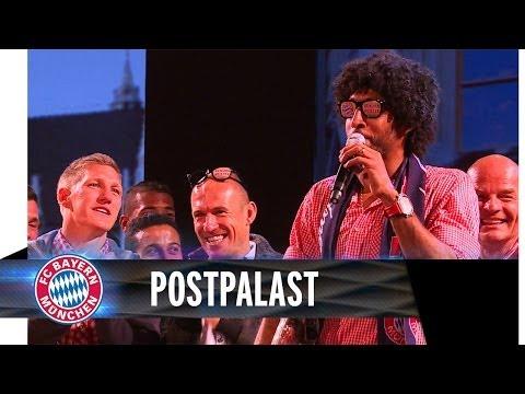 Dante singt auf der FC Bayern Party