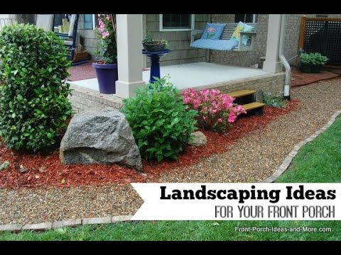 porch landscaping ideas youtube