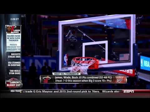 February 20, 2014 - ESPN - Game 53 Miami Heat @ Oklahoma City Thunder - Win (39-14)(Sportscenter)
