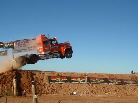 Semi jump world record Truck Jump