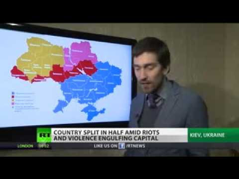 West v East  Ukraine split in half amid violence New update 2014