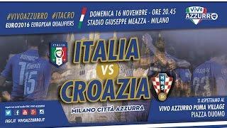 Coloriamo Milano d'Azzurro per Italia vs Croazia!