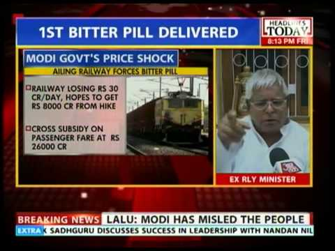Lalu  Yadav: Modi must roll back steepest hike in history of Railways