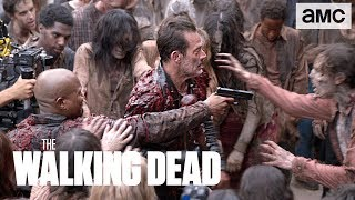 'Negan & Gabriel Gutting Up' Behind the Scenes Ep. 805   The Walking Dead