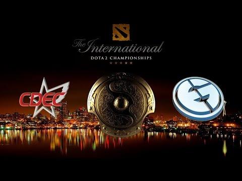 CDEC  vs  EG, TI5 Grand Final, Game 1 Русские комментаторы The International 5