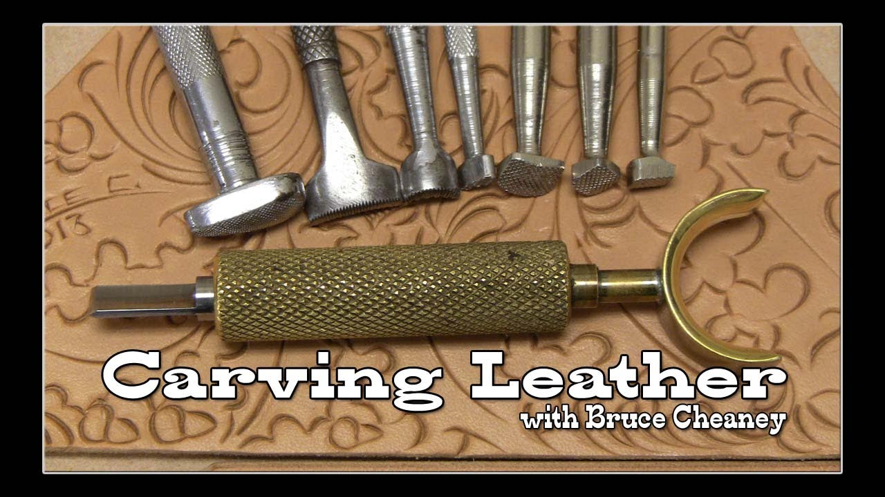 Carving leather tutorial part with craftsman and