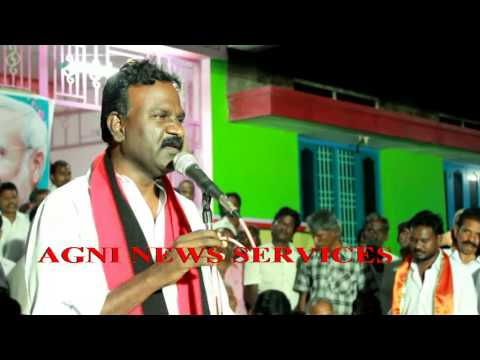 THENI ... MDMK CANDIDATE AZHAGU SUNDARAM ADDRESSES A PARTY CADRES MEETING