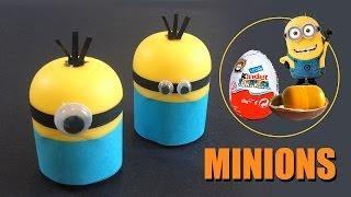 Como Hacer Minions Con Huevo Kinder Manualidades Con Niños