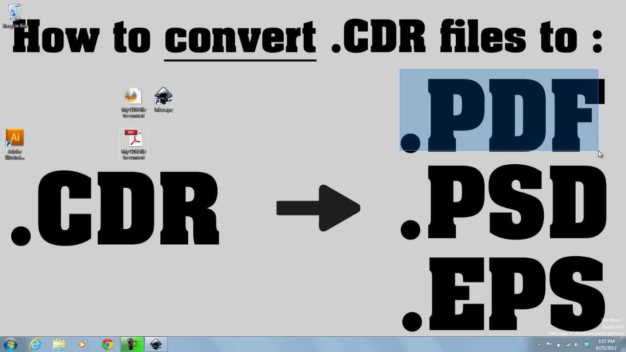 convert .cdr to .pdf online