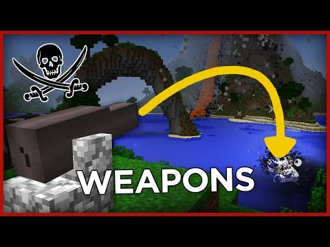 Pirate WEAPONS with one command in Minecraft!