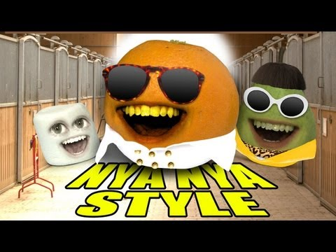 Annoying Orange - ORANGE NYA NYA STYLE (GANGNAM STYLE Spoof) - YouTube, Gangnam Style? No way. Orange goes NYA NYA style. GET ON iTUNES: http://bit.ly/OrangeNyaNyaStyle MERCH: AO TOYS! http://bit.ly/AOToys T-SHIRTS: http://bit.ly...