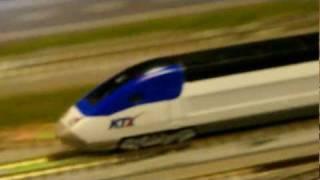 N Scale Railroad Model KTX Sancheon And CRH 3