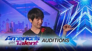 Visualist Will Tsai: Close-Up Magic Act Works With Cards and Coins - America's Got Talent 2017