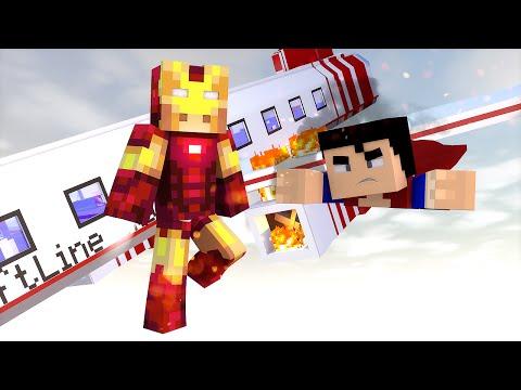 Minecraft: AVIÃO EM PERIGO! (Vida de Herói #4)