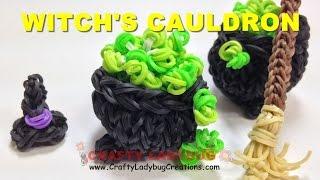 Rainbow Loom Band HALLOWEEN 3D WITCH CAULDRON Charm/Figure
