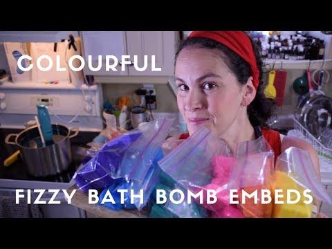 Making Fizzy Bath Bomb Embeds - DIY