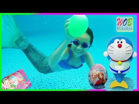 The Fin Fun Mermaid Tail ! Bảo Nhiên Làm Nàng Tiên Cá Tìm Quà Bất Ngờ ! WOB Kids !