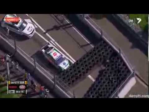Blanchard and Fiore Big Crash @ 2013 V8 Supercars Sydney Race 2